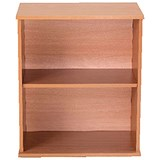 Image of Jemini Intro Desk High Bookcase / 600mm Wide / Beech