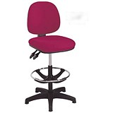 Image of Arista High Rise Chair / Adjustable Footrest / Claret