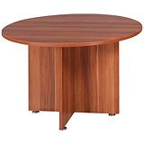 Image of Avior Round Meeting Table / 1200mm Dia / Cherry