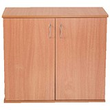 Image of Jemini Intro Desk High Cupboard / 800mm Wide / Beech