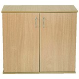 Image of Jemini Intro Desk High Cupboard / 800mm Wide / Oak