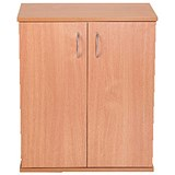 Image of Jemini Intro Desk High Cupboard / 600mm Wide / Beech