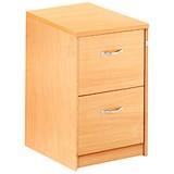 Image of Momento 2-Drawer Filing Cabinet - Beech