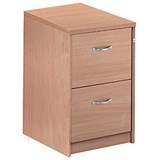 Image of Momento 2-Drawer Filing Cabinet - Oak