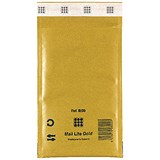 Image of Mail Lite Bubble Lined Postal Bag / Gold / 120 x 210mm / Pack of 10
