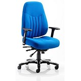 Image of Barcelona Deluxe Operator Chair / Blue / Built