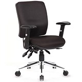 Chiro Medium Back Operator Chair - Black