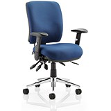 Image of Chiro Medium Back Operator Chair / Blue / Built