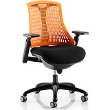 Image of Flex Task Operator Chair / Black Frame / Black Seat / Orange Back / Built