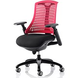 Flex Task Operator Chair / Black Frame / Black Seat / Red Back