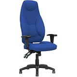 Image of Galaxy High Back Operator Chair / Blue / Built