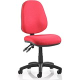 Image of Luna II Lever Task Operator Chair / Burgundy / Built