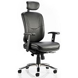 Image of Mirage Leather Executive Chair - Black