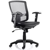 Image of Palma Mesh Operator Chair / Black / Built