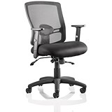 Image of Portland II Operator Chair / Black / Built