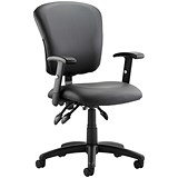 Toledo Leather Operator Chair - Black