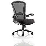 Houston Heavy Duty Task Operator Chair / Mesh Back / Fabric Seat / Black / Built