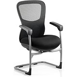 Image of Stealth Shadow Ergo Posture Visitor Chair / Mesh / Black