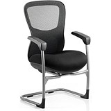 Image of Stealth Shadow Ergo Posture Visitor Chair / Mesh / Black / Built