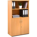 Image of Momento Low Open Top Display Cupboard - Beech