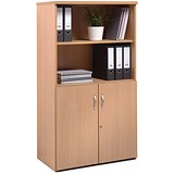 Image of Momento Low Open Top Display Cupboard - Oak