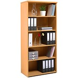 Image of Momento Tall Bookcase - Beech