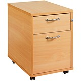 Image of Momento 2-Drawer Mobile Pedestal - Beech