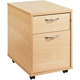 Image of Momento 2-Drawer Mobile Pedestal - Maple