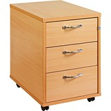 Image of Momento 3-Drawer Mobile Pedestal - Beech