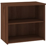 Image of Momento Low Bookcase - Walnut