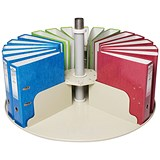 Image of Rotadex Circular Filing Platform for 24 Lever Arch Files - Grey