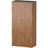 Image of Impulse Medium Tall Cupboard - Walnut