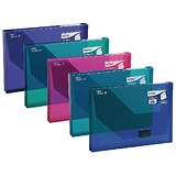 Image of Snopake Electra Document Box / 25mm Spine / A4 / Assorted / Pack of 5