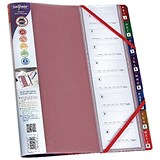 Image of Snopake FileLastic A4 Elasticated Files / 8-Part / Rainbow / Pack of 5