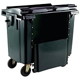 Four-Wheeled Bin with Drop-Down Front / 770 Litre / Grey