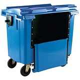 Image of Four-Wheeled Bin with Drop-Down Front / 1100 Litre / Blue