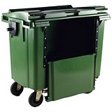 Image of Four-Wheeled Bin with Drop-Down Front / 1100 Litre / Green