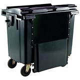 Four-Wheeled Bin with Drop-Down Front / 1100 Litre / Grey