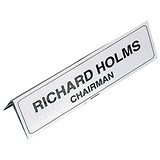 Image of Name Holder / 65x210mm / White / Pack of 5