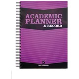 Image of Silvine Teacher Academic Planner and Record / A4 / 5 Day Period / Purple