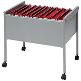 Image of Rexel Suspension Filing Trolley for 100 Files - Grey