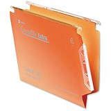 Image of Rexel CrystalFiles Classic Manilla Lateral Files / 330mm Width / V Base / Orange / Pack of 50