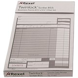 Twinlock Scribe 855 Counter Sales Receipt Business Form / 2-Part / Pack of 100
