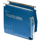 Image of Rexel CrystalFiles Extra Lateral Files / Polypropylene / 275mm Width / 50mm Base / Blue / Pack of 25