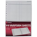 Image of Twinlock V4 Variform Double Ledger Sheets / Ref: 75951 / Pack of 75