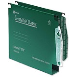 Image of Rexel CrystalFiles Classic Manilla Lateral Files / Extra Deep / 275mm Width / 30mm Base Green / Pack of 50