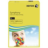 Image of Xerox Symphony Deep Tints Paper / Dark Yellow / A4 / 80gsm / Ream (500 Sheets)