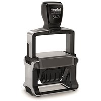 Trodat Professional TVC5460 Bespoke Line Dater Stamp / Self-Inking / 55x32mm