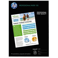 HP A4 Professional Matt Inkjet Paper, White, 120gsm, 200 Sheets