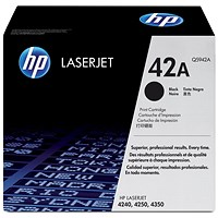 HP 42A Black Laser Toner Cartridge